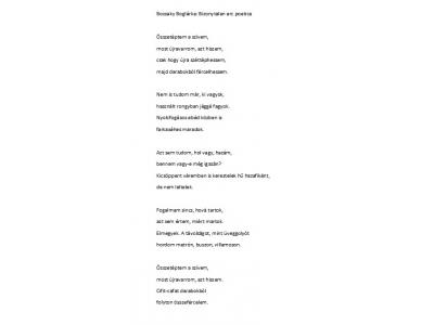 Bozsaky Boglárka verse